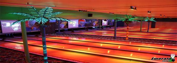 Cosmic Bowling Emerald Lanes